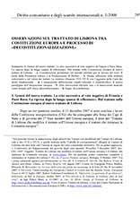 Osservazioni sul trattato di lisbona tra costituzione europea Pubblicazioni SSIP Seminario