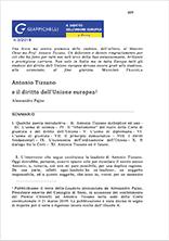 Antonio Tizzano e il diritto dell' Unione europea Pubblicazioni SSIP Seminario